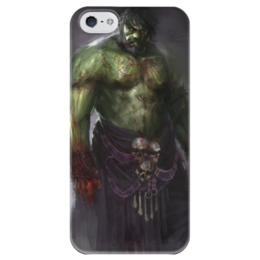 "Чехол для iPhone 5 глянцевый, с полной запечаткой ""Халк (Hulk)"" - комиксы, hulk, марвел, халк"