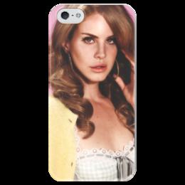 """Чехол для iPhone 5 глянцевый, с полной запечаткой """"Лана Дель Рей"""" - лана, лана дель рей"""