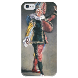 """Чехол для iPhone 5 глянцевый, с полной запечаткой """"Пульчинелла (Polichinelle)"""" - картина, мане"""