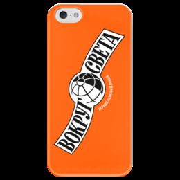 """Чехол для iPhone 5 глянцевый, с полной запечаткой """"Вокруг Света"""" - путешествия, travel, вокруг света"""