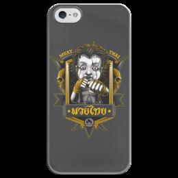 """Чехол для iPhone 5 глянцевый, с полной запечаткой """"MUAY TAI"""" - муай тай, боевые единоборства, muai tai"""