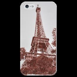 "Чехол для iPhone 5 глянцевый, с полной запечаткой ""Эйфелева Башня"" - france, франция, париж, paris, башня, эйфелева башня, la tour eiffel, эфелева башня, эйфелева, eiffel"