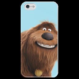 "Чехол для iPhone 5 глянцевый, с полной запечаткой ""Дюк (Duke)"" - тайная жизнь домашних животных, the secret life of pets, duke, дюк"