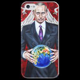 """Чехол для iPhone 5 глянцевый, с полной запечаткой """"Big Boss"""" - любовь, россия, политика, путин, босс"""