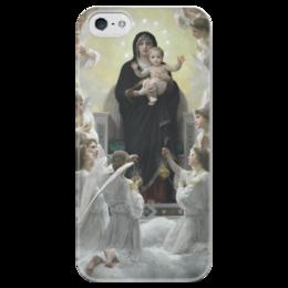 "Чехол для iPhone 5 глянцевый, с полной запечаткой ""La Vierge aux anges"" - картина, бугро"
