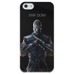 """Чехол для iPhone 5 глянцевый, с полной запечаткой """"Mortal Kombat X (Sub-Zero)"""" - воин, боец, mortal kombat, sub-zero"""