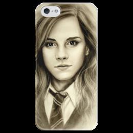 """Чехол для iPhone 5 глянцевый, с полной запечаткой """"Гермиона (Эмма Уотсон)"""" - девушка, harry potter, гарри поттер, гермиона, эмма уотсон"""