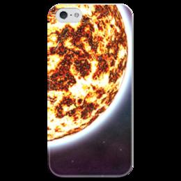 """Чехол для iPhone 5 глянцевый, с полной запечаткой """"The Spaceway"""" - космос, наука, прогресс, денис гесс, the spaceway"""