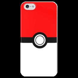 """Чехол для iPhone 5 глянцевый, с полной запечаткой """"Покемон - покебол"""" - аниме, мульт, покемон, пикачу, покебол"""
