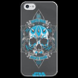 """Чехол для iPhone 5 глянцевый, с полной запечаткой """"Darth maul"""" - star wars, звездные войны, darth maul"""