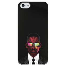 """Чехол для iPhone 5 глянцевый, с полной запечаткой """"Уилл Смит (Will Smith)"""" - уилл смит, люди в черном, фокус, я-легенда"""