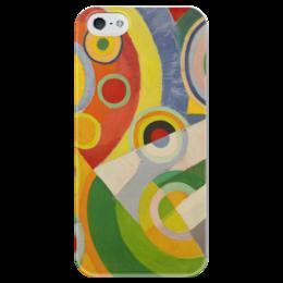 """Чехол для iPhone 5 глянцевый, с полной запечаткой """"Абстракционизм (картина Делоне)"""" - картина, искусство, масло, живопись, делоне"""