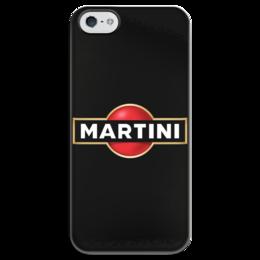 """Чехол для iPhone 5 глянцевый, с полной запечаткой """"Martini"""" - martini, мартини"""