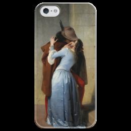 """Чехол для iPhone 5 глянцевый, с полной запечаткой """"Поцелуй (Франческо Айец)"""" - картина, поцелуй, милан, айец"""