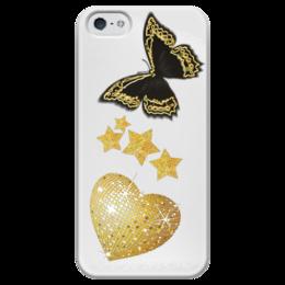 """Чехол для iPhone 5 глянцевый, с полной запечаткой """"Роскошь"""" - золото, гламур, дорого, glam, glamour, gold, глам, глэм, роскощь"""