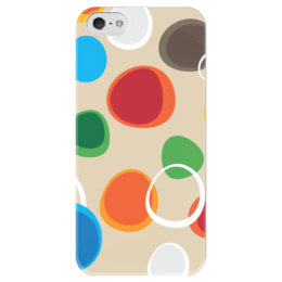 """Чехол для iPhone 5 глянцевый, с полной запечаткой """"Цветная абстракция"""" - узор, стиль, орнамент, абстрактный, рисунк"""