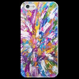 "Чехол для iPhone 5 глянцевый, с полной запечаткой ""Color_Fier"" - арт, colors, краски, art"