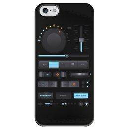 """Чехол для iPhone 5 глянцевый, с полной запечаткой """"Магнитофон, плеер"""" - мажок, плеер, мафон, музыка, плей"""
