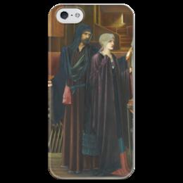 "Чехол для iPhone 5 глянцевый, с полной запечаткой ""Маг (The Wizard)"" - картина, бёрн-джонс"