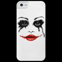 "Чехол для iPhone 5 глянцевый, с полной запечаткой ""Harley Quinn"" - харли квинн, harley quinn, dc comics, super villain"