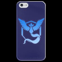 "Чехол для iPhone 5 глянцевый, с полной запечаткой ""Pokemon go: Mystic team"" - pokemon, покемоны, pokemon go, mystic, mystic team"