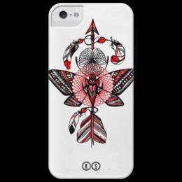 "Чехол для iPhone 5 глянцевый, с полной запечаткой ""Helix"" - бабочка, спираль, графика, лайнарт, tm kiseleva, arrow, butterfly"