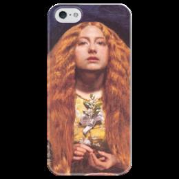 """Чехол для iPhone 5 глянцевый, с полной запечаткой """"Подружка Невесты"""" - картина, милле"""
