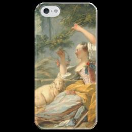 "Чехол для iPhone 5 глянцевый, с полной запечаткой ""Пастушка"" - картина, фрагонар"