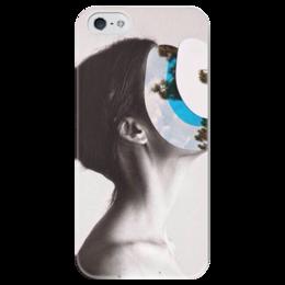 """Чехол для iPhone 5 глянцевый, с полной запечаткой """"Женщина """" - арт, женщина, иллюстрация"""
