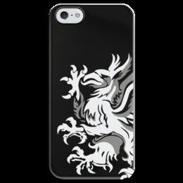 """Чехол для iPhone 5 глянцевый, с полной запечаткой """"Dragon Age. Серые Стражи"""" - компьютерные игры, dragon age, для геймеров, grey wardens, серые стражи"""