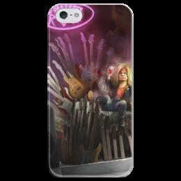 """Чехол для iPhone 5 глянцевый, с полной запечаткой """"Тирион Ланнистер"""" - джордж мартин, игра престолов, game of thrones, tyrion lannister"""