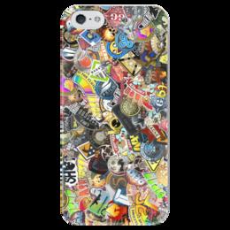 "Чехол для iPhone 5 глянцевый, с полной запечаткой ""Case ""Stickers CS:GO"""" - case, cs, go, counter-strike, stickers"
