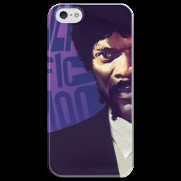 """Чехол для iPhone 5 глянцевый, с полной запечаткой """"Криминальное чтиво"""" - кино, фильм, тарантино, криминальное чтиво, киноарт"""