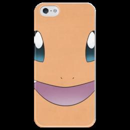 """Чехол для iPhone 5 глянцевый, с полной запечаткой """"Чармандер"""" - нинтендо, nintendo, charmander, pokemon go, покемон го"""