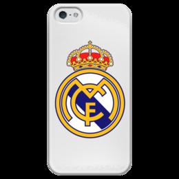 """Чехол для iPhone 5 глянцевый, с полной запечаткой """"Real  madrid """" - футбол, real madrid, реал мадрид, футбольный клуб"""