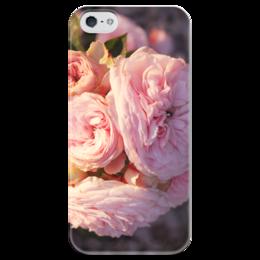 """Чехол для iPhone 5 глянцевый, с полной запечаткой """"Нежные розы """" - лето, цветы, flowers, природа, нежность, розы, букет"""