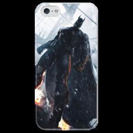 "Чехол для iPhone 5 глянцевый, с полной запечаткой ""The Dark Knight"" - арт, комиксы, batman, бетмен"