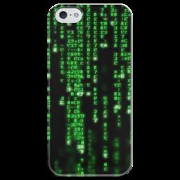 """Чехол для iPhone 5 глянцевый, с полной запечаткой """"Матрица"""" - матрица"""