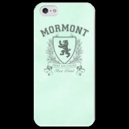 """Чехол для iPhone 5 глянцевый, с полной запечаткой """"Игра Престолов. Дом Мормонтов"""" - игра престолов, game of thrones, мормонт, house mormont, дом мормонтов"""