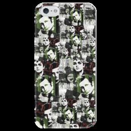 "Чехол для iPhone 5 глянцевый, с полной запечаткой ""GREEN DAY"" - art, рок, green day, фан арт, fan art"