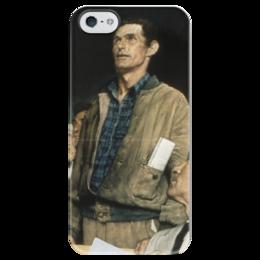 """Чехол для iPhone 5 глянцевый, с полной запечаткой """"Свобода слова (Freedom of Speech)"""" - картина, роквелл"""