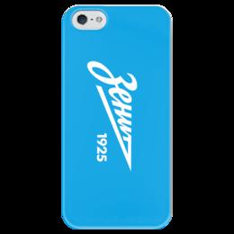 """Чехол для iPhone 5 глянцевый, с полной запечаткой """"Зенит"""" - зенит, футбольный клуб, санкт-петербург, zenit fc"""