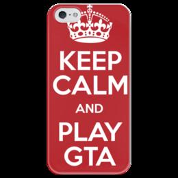 """Чехол для iPhone 5 глянцевый, с полной запечаткой """"ГТА 5"""" - игра, gta, гта, про игры, фанат игр"""
