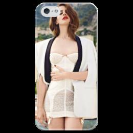 """Чехол для iPhone 5 глянцевый, с полной запечаткой """"Лана Дель Рей """" - арт, девушка, мужская, в подарок, девушке, креативно, lana del rey, indie pop"""