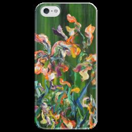 """Чехол для iPhone 5 глянцевый, с полной запечаткой """"Осенние цветы"""" - любовь, красота, autumn, нравится, цветки"""