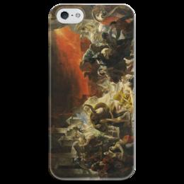 """Чехол для iPhone 5 глянцевый, с полной запечаткой """"Последний день Помпеи (картина Брюллова)"""" - картина, брюллов"""