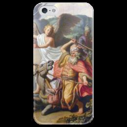 "Чехол для iPhone 5 глянцевый, с полной запечаткой ""Валаамова ослица (картина Рембрандта)"" - рембрандт, картина, библия, ветхий завет"