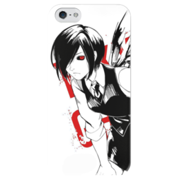 """Чехол для iPhone 5 глянцевый, с полной запечаткой """"Токийский гуль. Тока"""" - аниме, манга, токийский гуль, tokyo ghoul, тока"""