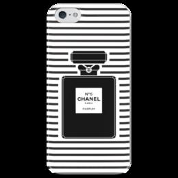 "Чехол для iPhone 5 глянцевый, с полной запечаткой ""chanel №5"" - духи, шанель, perfume, n5"