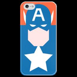 "Чехол для iPhone 5 глянцевый, с полной запечаткой ""Capitan America"" - комиксы, movie, marvel, avengers, марвел"